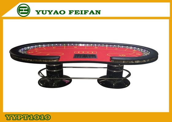 China Contemporary Texas Holdem Poker Table with Pedestal Stainless Leg supplier