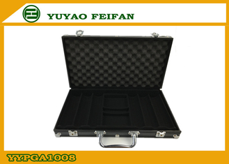 China Diamond Surface Aluminum Case Poker Set Wooden Case For Poker Chip supplier