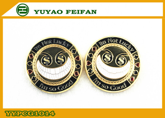 China Funny Big Small Metal Heavy Poker Chips with Dollar Eyes 40 x 3.3mm supplier