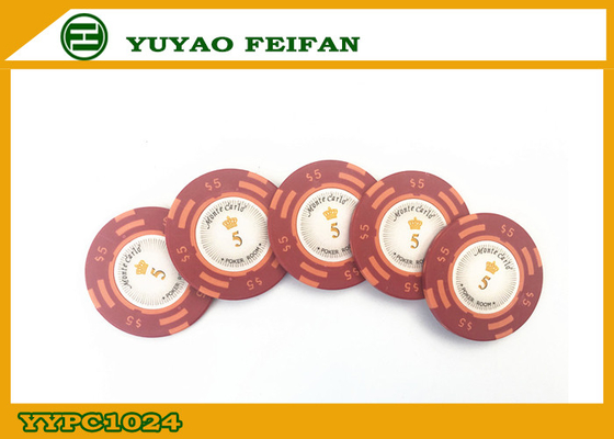 China Casino Quality Custom Clay Poker Chips With Two Side Stickers supplier