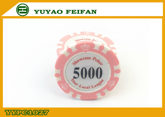 China Two Solid Professional Clay Poker Chips Beautiful Pink 14 Gram supplier