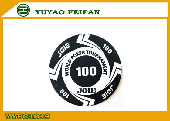 China Large Funny Rounders World Tournament Poker Chips With Values 100 supplier