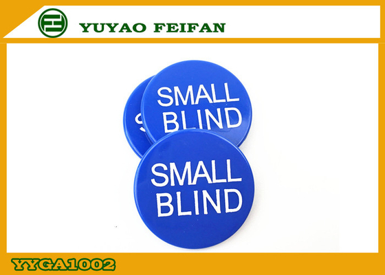 China Silk Printing Small Blind Button ABS Poker Game Button 30 x 3 Mm supplier