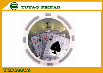 China Custom Build Casino Laser ABS Poker Chips Multi Colored For Indoor Games supplier