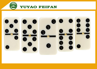 China Personalized Double Six Travel Dominoes Game Set For Family Games 50 * 25 * 10mm supplier