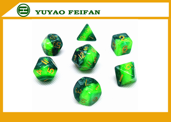 China Different Colors Play Gaming Accessories 10 Sided Marble Polyhedral Dice D10 Set supplier