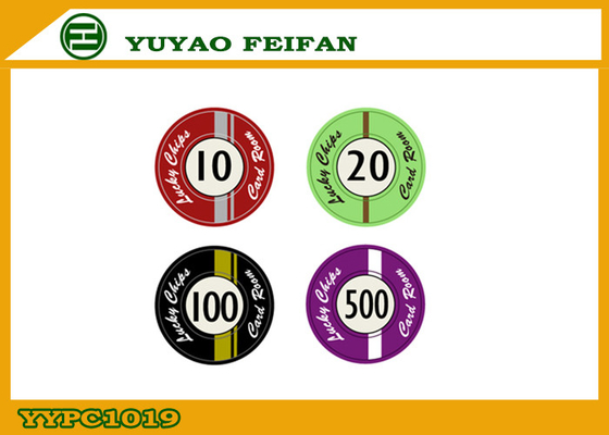 China Custom Lucky Poker Chips , Professional Casino Ceramic Poker Chip supplier