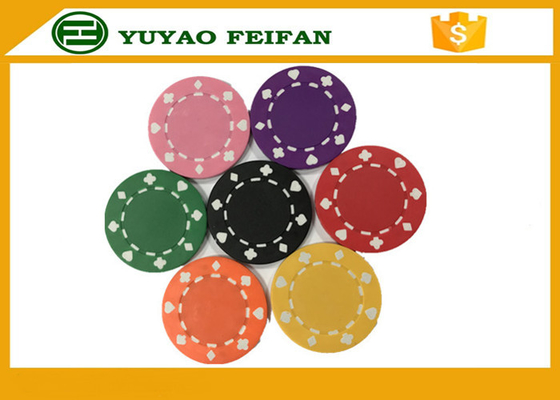 China Professional Heart Casino ABS Poker Chips For Playing Game Set supplier