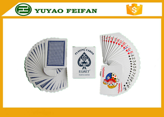 China Paper / Plastic Poker Playing Cards With ROHS / SGS Certification supplier