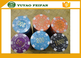 China ABS High Quality Poker Chips Dice Striped Plastic Poker Chip With Numbers supplier