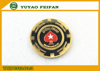 China Red Heart Star Metal Poker Chips Engrave Custom Logo Casion Using factory