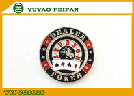 Sliver Back Side Dealer Poker Chips Beautiful Engrave Picture