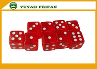 China Straight Corner 16mm Engraved Dot Game Transparent Dice Set For Casino factory