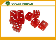 China OEM Acrylic Professional Straight Corner 6 Sided Dice Sets With 3mm Dots factory