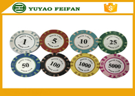 China 13.5 Gram Crown Monte Carlo Casino Poker Chips With Pantone Color 40x3.3mm factory