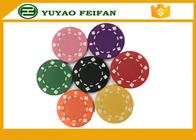 China Professional Heart Casino ABS Poker Chips For Playing Game Set factory