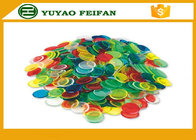 Children Game Custom Plastic Bingo Chips ABS Poker Chips Solid Color 20mm*2mm