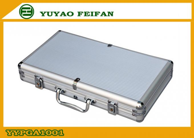300 Pcs Sliver Aluminum Poker Cases Play Gaming Accessories 300ct Alum Poker Chips Case