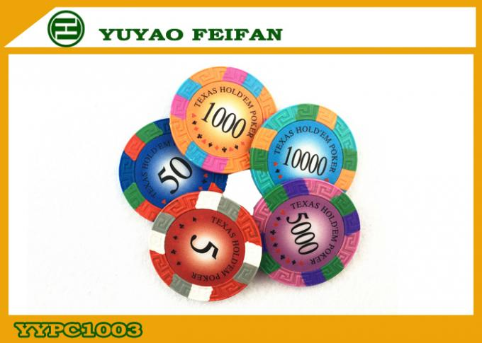 Customize Home Casino Grade Poker Chips Foil Stamping Sticker
