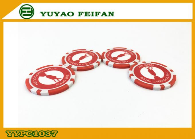 Official Small Red ABS Custom Poker Chip Casino Style Poker Chips