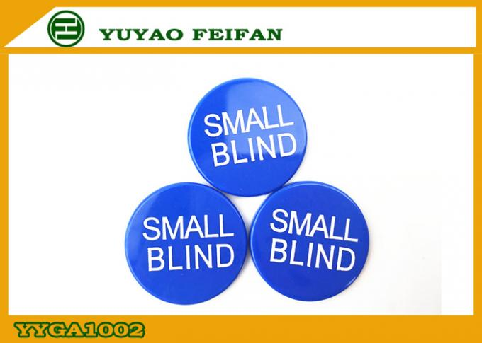 Silk Printing Small Blind Button ABS Poker Game Button 30 x 3 Mm