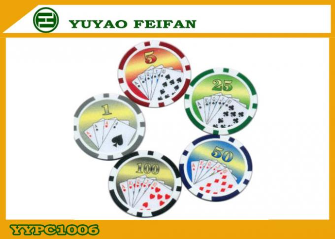 Custom Build Casino Laser ABS Poker Chips Multi Colored For Indoor Games