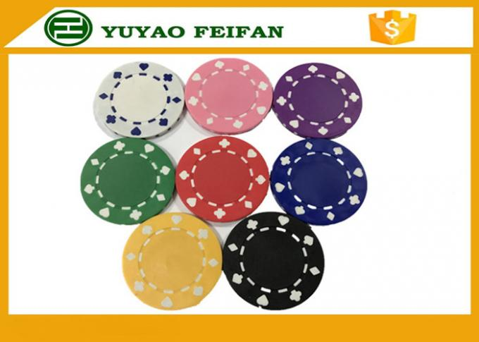 Professional Heart Casino ABS Poker Chips For Playing Game Set