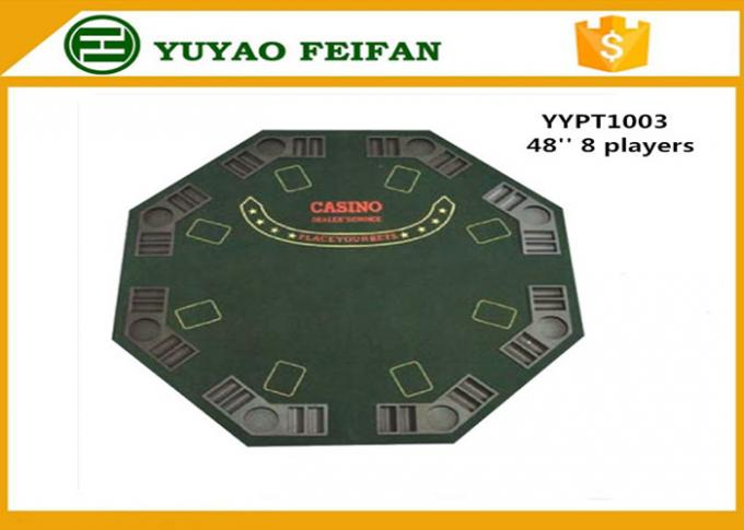 48 Inch 8 Person Poker Table MDF Casino Blackjack Poker Table Custom Poker Table Tops