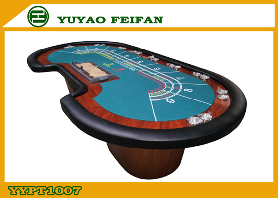 China Collapsible Custom Built Poker Tables Wooden Leg Pu Edge Poker Tables factory