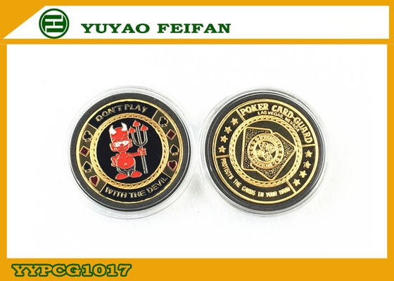China 30g Red Devil Gambling Metal Poker Chips For Gift / Promotion distributor