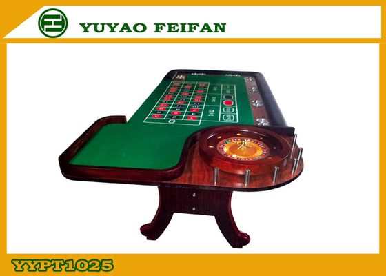 China Green Poker Game Table With Roulette Gambling Casino Roulette Table distributor