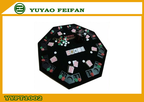China Octagon Foldable Poker Table Top Texas Holdem Poker Table For Family Party factory