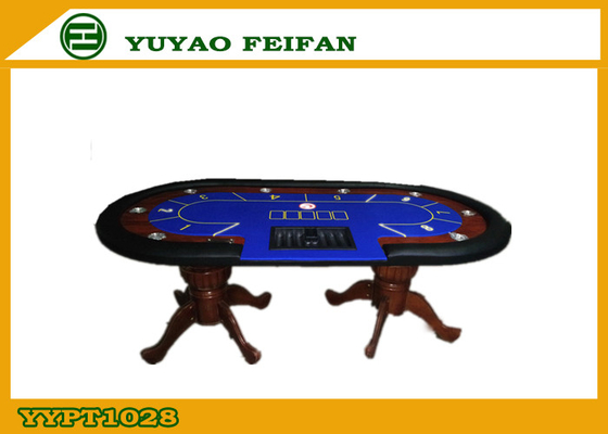 China Professional Casino Texas Holdem Poker Table Solid Wooden Legs factory