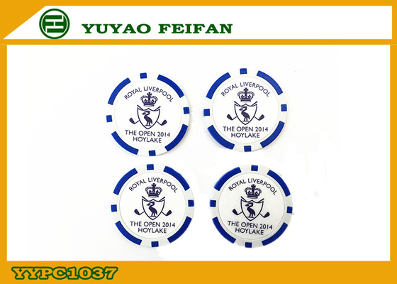 China Professional High Roller Monogrammed Poker Chips Blue For Casino factory