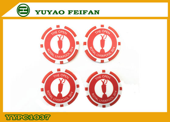 China Official Small Red ABS Custom Poker Chip Casino Style Poker Chips factory