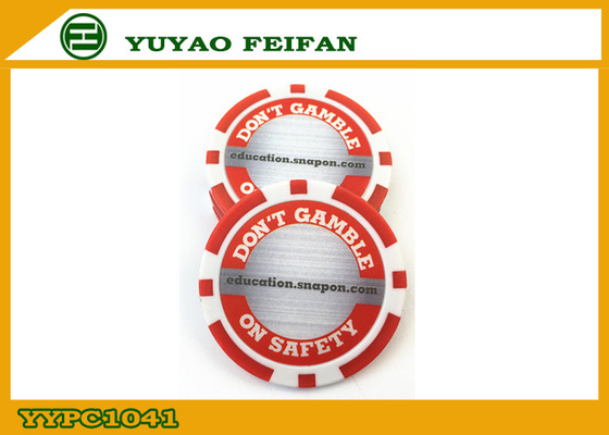 China Red / White Custom Poker Chips Customize Your Own Poker Chips distributor