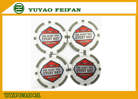 China 32mm 11.5G Round PS Custom Poker Chip Grey Color For Education distributor