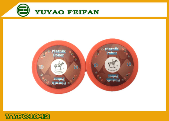 China Nice Durable Custom Paulson Poker Chips 4G With Horse sticker distributor