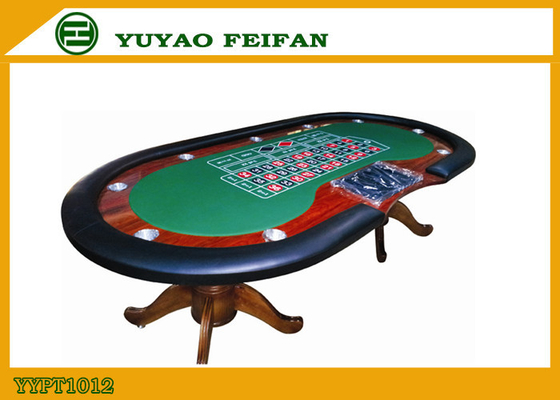 8 Or 10 Payers Texas Holdem Poker Table With Black Holder Red Race