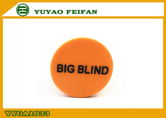 China ROHS / SGS PP Yellow Round Big Dealer Button Poker For Game distributor