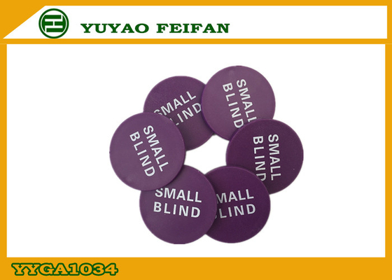 China PP Purple Poker Dealer Button Small Blind Game Button For Casino distributor