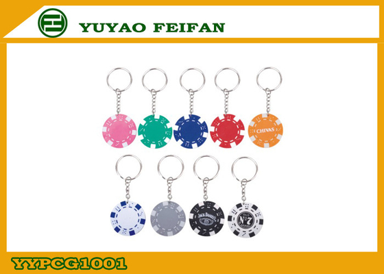 China Custom Design Personalized Poker Chip Keychain 11.5 Gram Poker Chips distributor