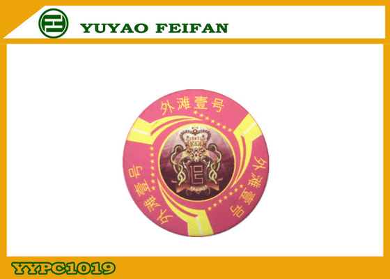 China Personalised Ceramic Poker Chips Nice Pink One Bund Funny Rounders distributor