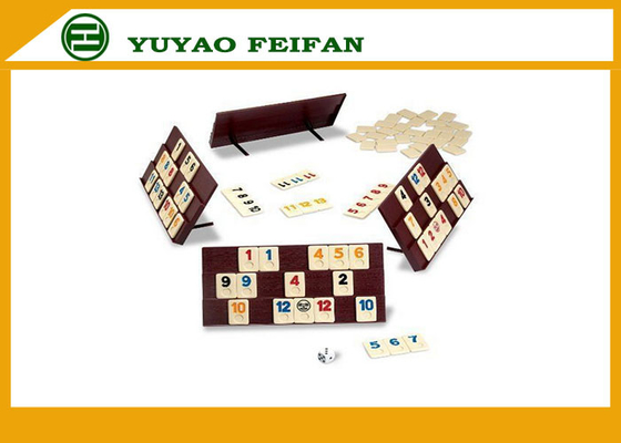 China Solid 5.6g Indoor Dominoes Game Set Color Box Gambling Tile Rummy Game Set distributor