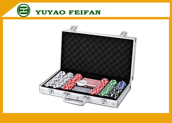 China 6 Colors Professional Poker Chips Sets For Casino 300 Pcs Round Corner distributor