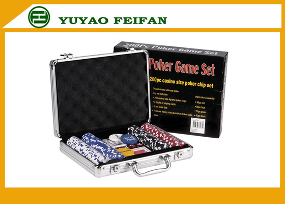 China Travelling Promotional Free Gifts  200 pcs 11 G Poker Chips Set For Family distributor