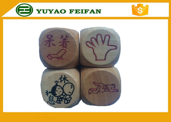 China Wooden Custom Sexy 6 Sided Dice Sets For Children / Adult Dice Games distributor