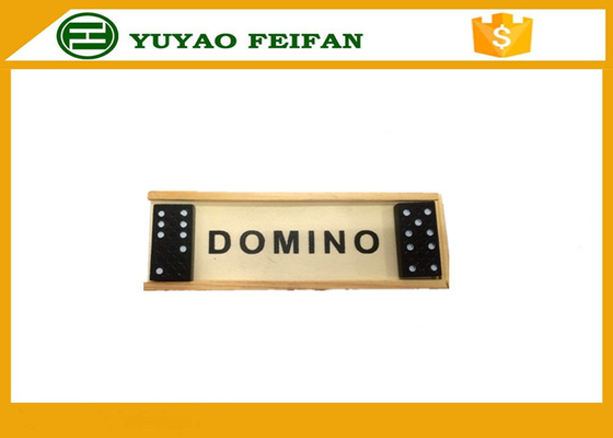 China Promotional Playing Game Double Six Dominoes Game Set With Wooden Box distributor