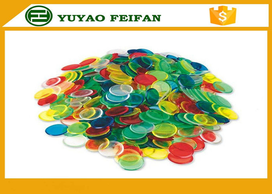 China Children Game Custom Plastic Bingo Chips ABS Poker Chips Solid Color 20mm*2mm distributor