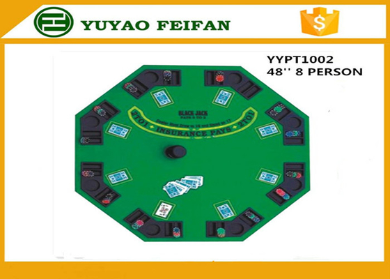 China 48 Inch 8 Person Poker Table MDF Casino Blackjack Poker Table Custom Poker Table Tops distributor